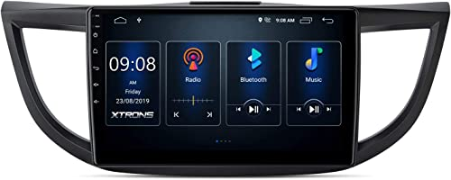 XTRONS Android 10 Car Stereo Radio Player 10.1 Inch IPS Touch Screen GPS Navigation Built-in DSP Bluetooth Head Unit Supports Android Auto Backup Camera WiFi OBD2 DVR TPMS for Honda CR-V 2012-2016