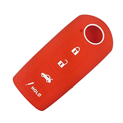 Coolbestda Silicone 4 Buttons Smart Key Fob Keyless Entry Case Cover Remote Holder Jacket for Mazda 3 6 CX-7 CX-9 MX-5 Miata Red: Automotive