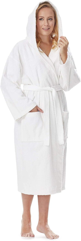 TALLA XXL. Arus Albornoz de Hombre y Mujer, 100% algodón, Medio-Largo o Maxi-Largo, con Capucha, Bata de baño