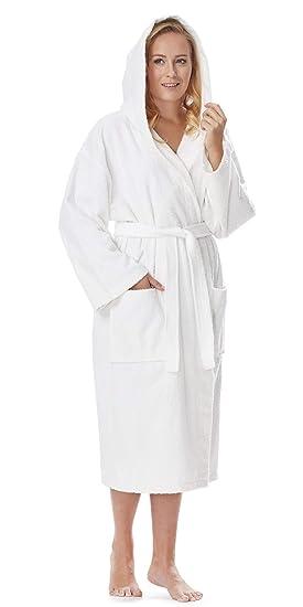 e99518647fc46 Astra Peignoir de Bain pour Femme/Homme à Capuche, 100% Coton en Tissu  éponge, Longueur Moyenne: Amazon.fr: Vêtements et accessoires
