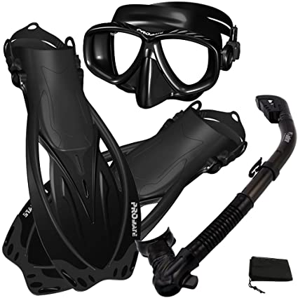 Promate S-m Adjustable Snorkeling Fins Scuba Diving Gear W/ Deep See Booties 9 Sporting Goods
