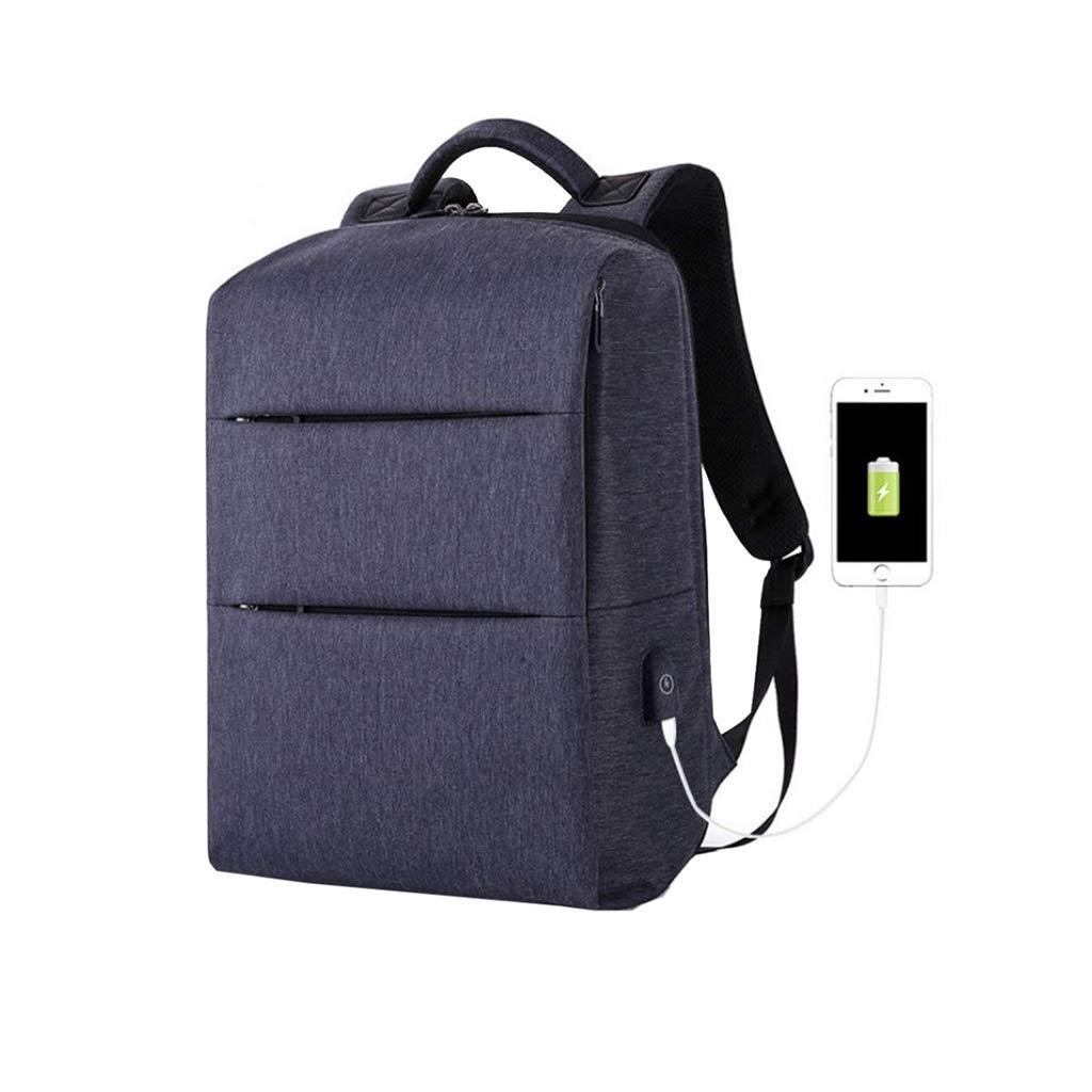 Nosterappou 大容量 ビジネス バックパック 充電式 コンピューター バックパック 学生 バッグ 軽量 防水 USB メンズ バッグ ファッション オックスフォード クロス メンズ 学生 バックパック アウトドア ハイキング バックパック ブルー Looger2402  ブルー B07LFBBPPL