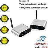 MEASY Wireless Audio Video AV Transmitter Sender Receiver Support IR AV230 2.4GHz 8 Channel Wireless AV Sender