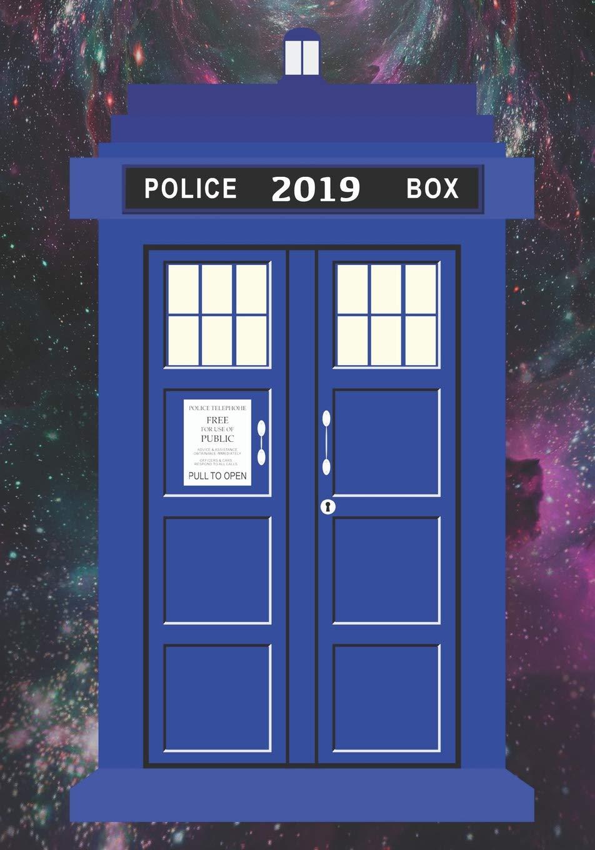 Monthly Organiser Notebook Journal Tardis 2019 Daily Planner Calendar