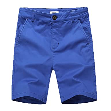 868c7a6515 KID1234 Boys Shorts - Flat Front Shorts with Adjustable Waist,Chino Shorts  for Boys 5