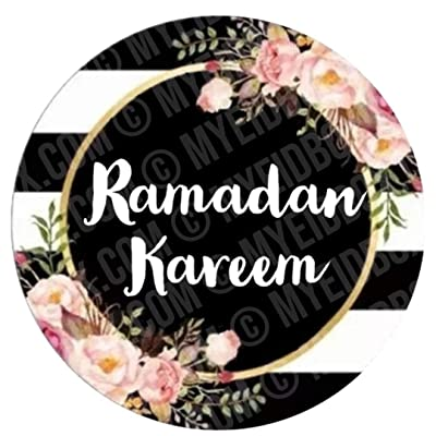 Ramadan Stickers | Black Floral Classy Floral | 24pcs 2inch | Goodie Bags, Party, Decor, Craft, Money Envelopes, Greeting Cards, Gift Bags,Gift Boxes, Cookie Boxes, Eid, Ramadan: Arts, Crafts & Sewing