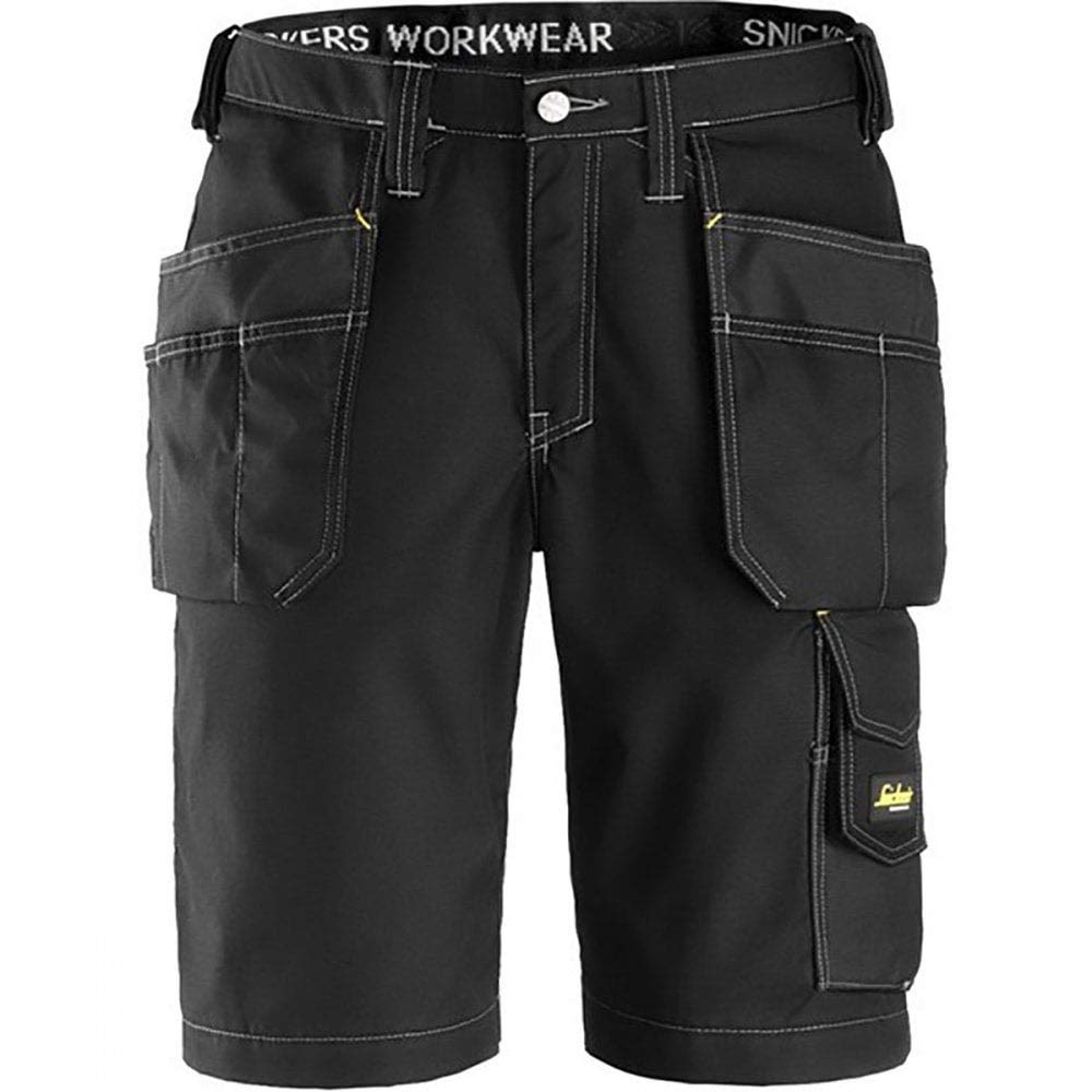Snickers 30230404048 Rip-Stop artisan shorts with holster pouch size 48 black