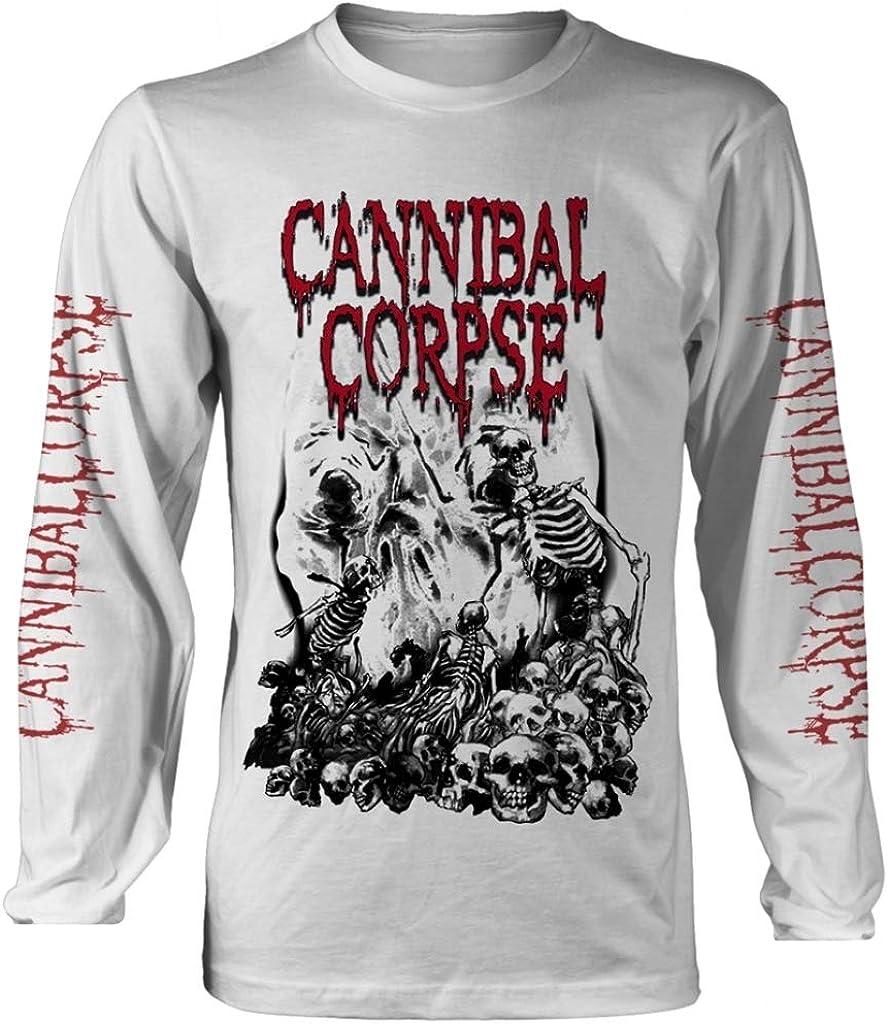 Cannibal Corpse 'Pile of Skulls 2018' (White) Long Sleeve Shirt