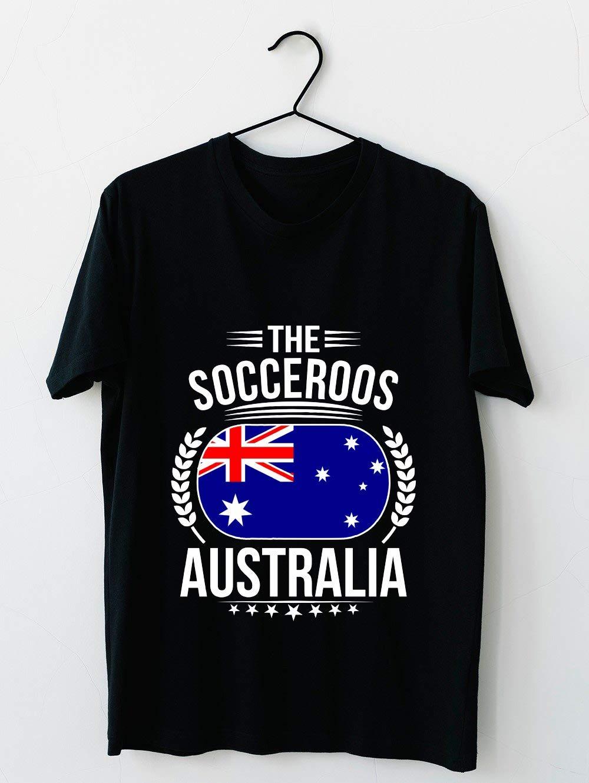 Australian Flag Soccer Slogan T Shirt 56 T Shirt For Unisex