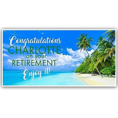 Congratulations Retirement Personalized Banner