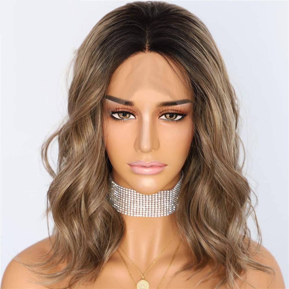 Amazon Com Black Brown Short Heat Resistant Hair Blogger Daily