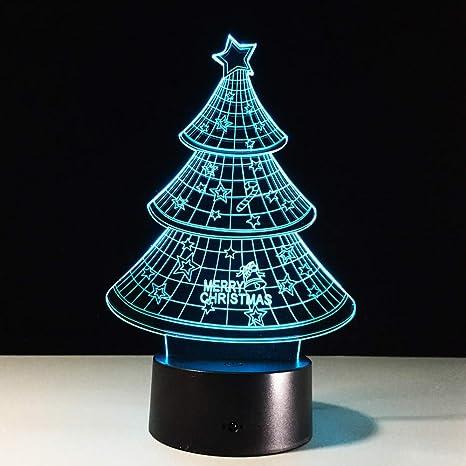 7 Cambio de color 3D LED luz de la noche lámpara de mesa luces del ...