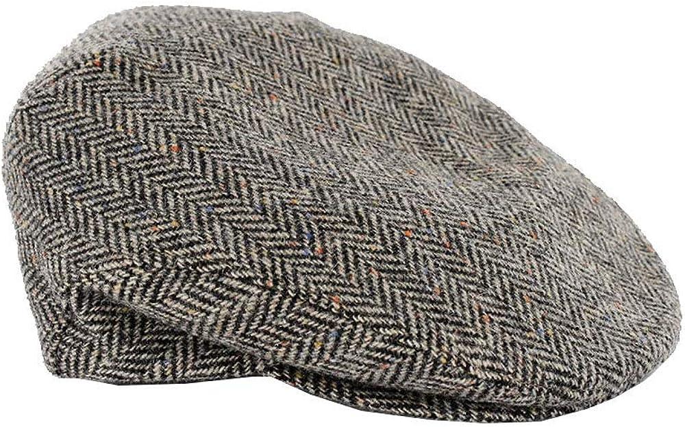Mucros Brown Tweed Baseball Cap Flat Cap Style Irish Made Color 335-1