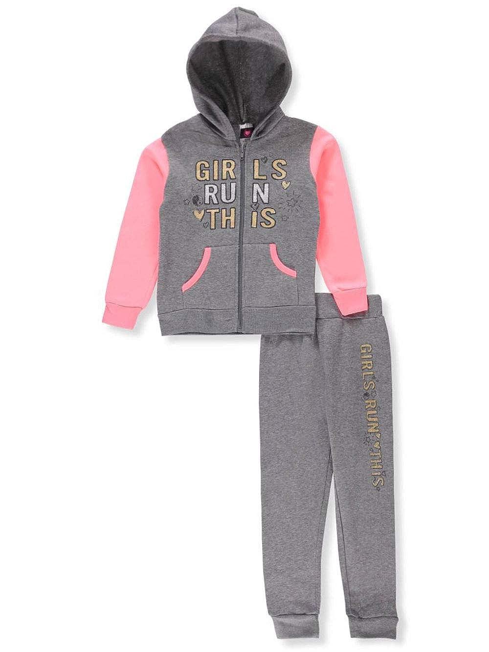 Diva Girls' 2-Piece Sweatsuit Pants Set