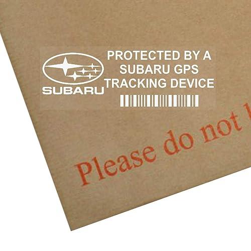 Platinum Place 5 x PPSUBARUGPS GPS Tracking Device Security WINDOW Stickers 87x30mm-Car,Van Alarm Tracker
