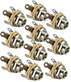 """Switchcraft Type 12A ( Pack of 10 ) Stereo 2-Conductor Input Jack, 1/4"""" , Double Open Circuit, Made in USA"""