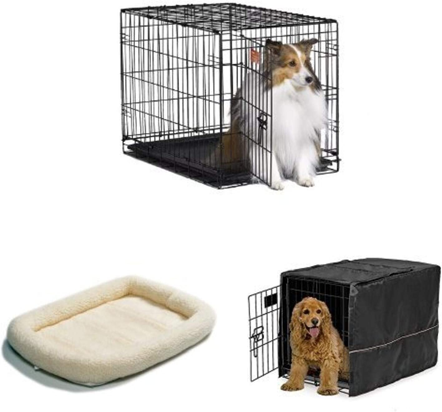 30-Inch Single Door iCrate with Fleece Bed and Cover