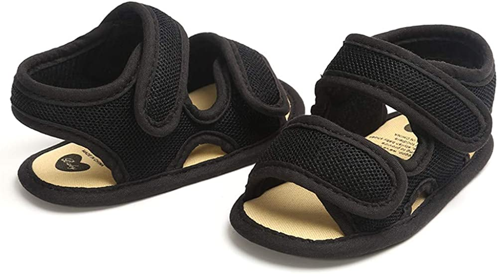 LAFEGEN Baby Boys Girls Summer Sandals 2 Straps Anti Slip Soft Sole Beach Infant Shoes Toddler First Walker Newborn Crib Shoes 3-18Months