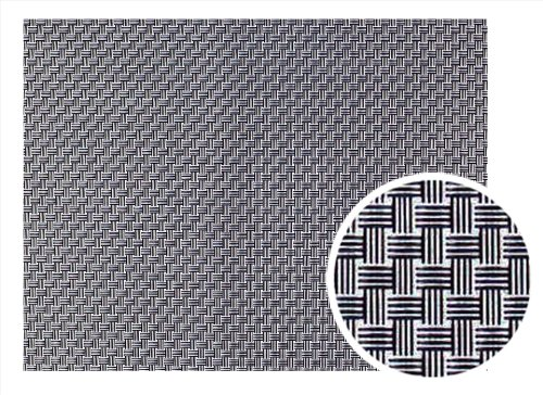 - New Star Foodservice 28164 Crossweave Woven Vinyl Placemat, Set of 4, Gunmetal Grey
