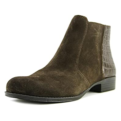 2ca65224f6f95 Amazon.com | Naturalizer Jump Women Round Toe Suede Brown Ankle Boot | Ankle  & Bootie