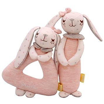 SHILOH Rattle Plush Toy Lovely Kid Children Infant Doll Intelligence Developmental Gift Animals Elfin Mouse
