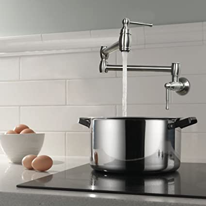 HAOXIN Wall Mounted Stainless Steel Pot Filler Faucet Folding