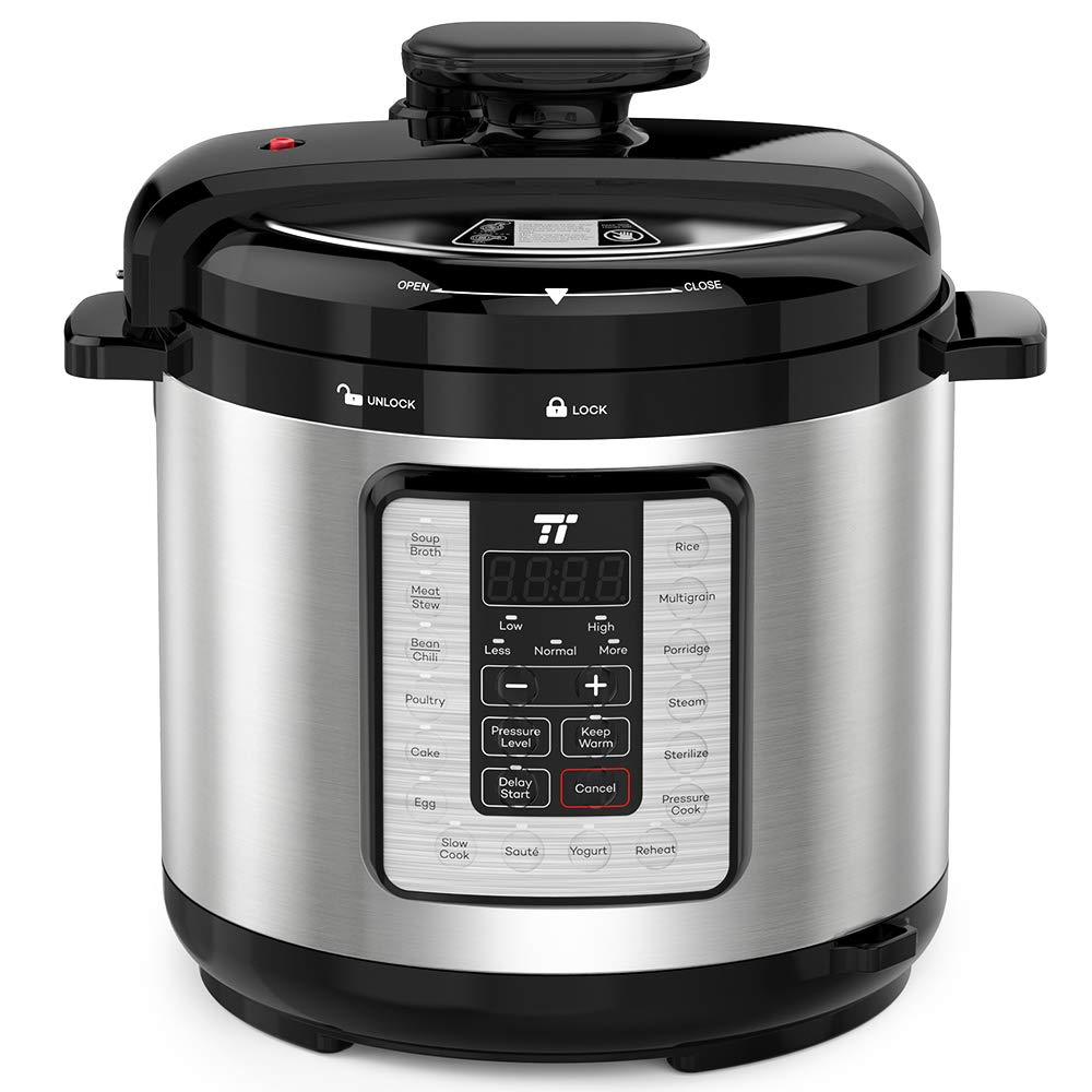 TaoTronics TT-EE007 Electric Pressure Cookbook 8QT, 10-in-1 Multi-Use, 16 Programs, FDA and ETL Approved, Slow, Rice Cooker, Steamer, Sauté Pot, Yogurt Maker, Food Warmer, Sterilizer