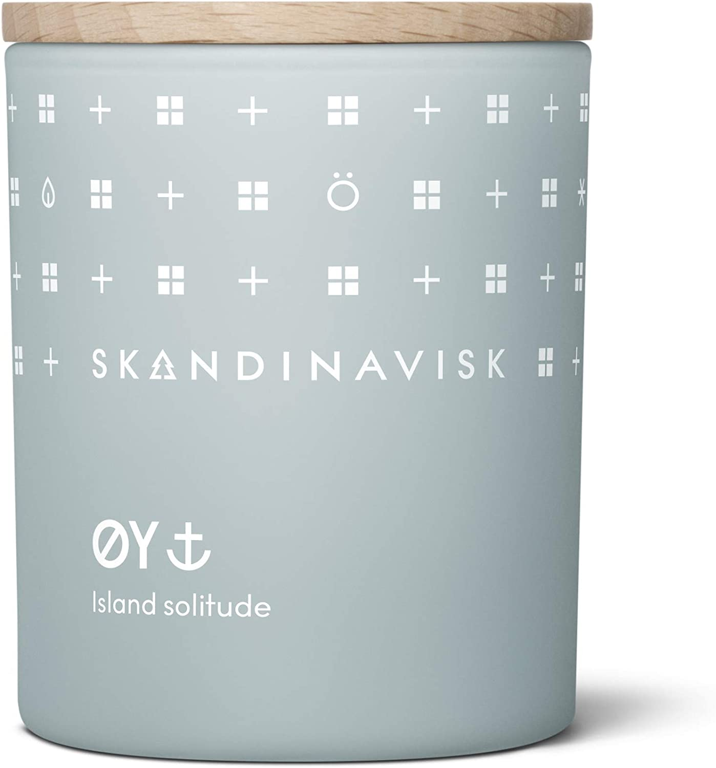 Skandinavisk ØY 'Island' Mini Scented Candle. Fragrance Notes: Crabapple and Dog Rose, Water Mosses and Green Leaves. 2.3 oz.