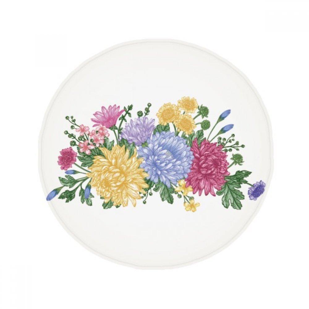 60X60cm DIYthinker Chrysanthemum Greenery Plant Flower Anti-Slip Floor Pet Mat Round Bathroom Living Room Kitchen Door 60 50Cm Gift