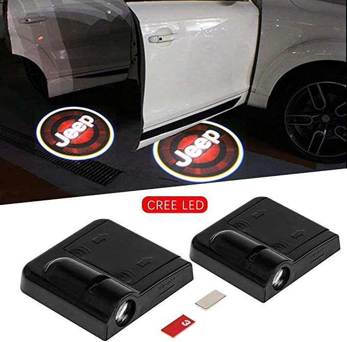 4pcs Entry Lighting Car Logo Projector For Ford Mustang Door Welcome Light Courtesy Lighting Universal Wireless Magnetic Sensor Shadow Marker Car Doors Entry Light