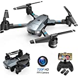 SNAPTAIN A15H Foldable FPV WiFi Drone w/Voice Control/120°Wide-Angle 720P HD Camera/Trajectory Flight/Altitude Hold/G-Sensor/