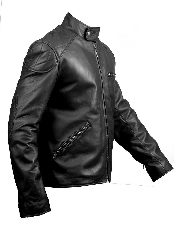 FactoryExtreme Freedom Mens Black or Navy Blue Biker Leather Jacket