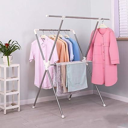 49d7d390665c Amazon.com: PLLP Drying Rack Hangers Airer Floorstanding ...