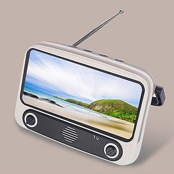 Sroomcla Retro TV Altavoz Bluetooth V4.2 Radio Inalámbrica Vintage, TV3 Altavoz Bluetooth Mini Compacto Opcional 3D Estéreo Calidad De Sonido Altavoz Portátil, Soporte De Llamadas Manos: Amazon.es: Hogar