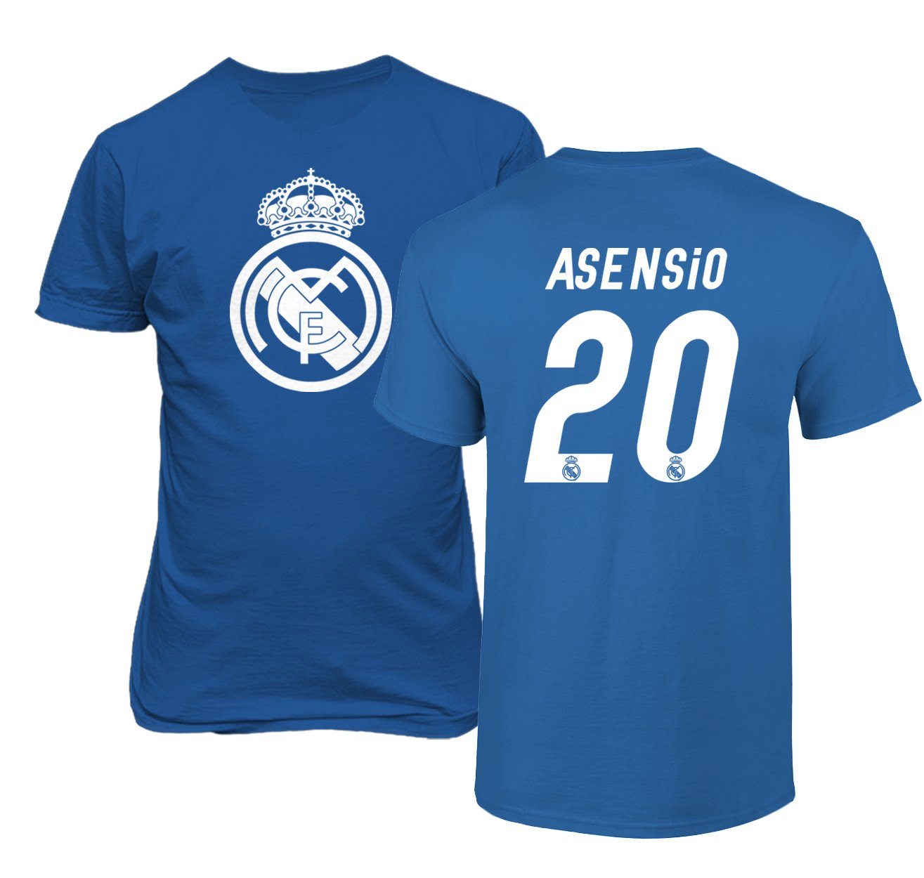 Amazon.com : Real Madrid Marco ASENSIO #20 Jersey Shirt Soccer Football Mens T-Shirt : Sports & Outdoors