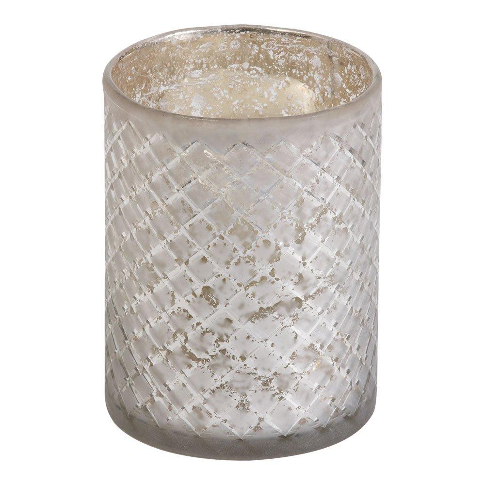 Ethan Allen Diamond-Etched Glass Hurricane