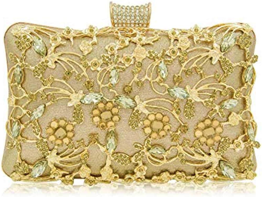 New Women Rhinestone Prom Wedding Evening Party Shoulder Handbag Bridal Clutch