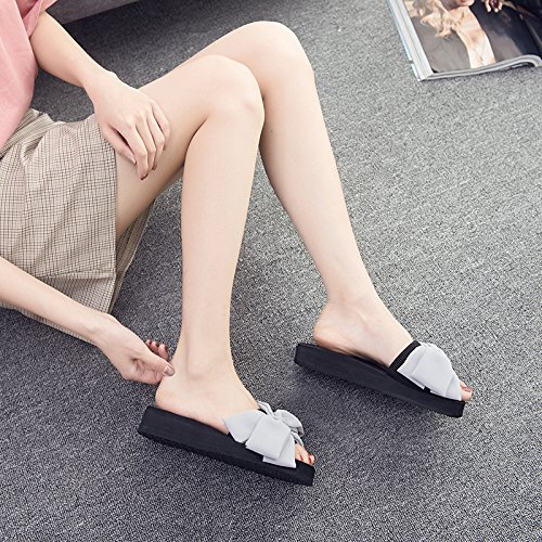Leisure Chaussures d'été plage d'extérieur antidérapante FLYRCX Chaussons Sweet Nœud antique de b femme pour vxv0qdZU