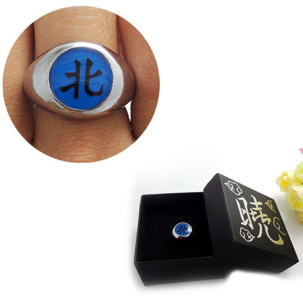 Loheag Clinor Naruto Akatsuki Ringe aus Metall für Cosplay und Sammlung (三 - Hidan)