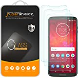 (3 Pack) Supershieldz for Motorola Moto Z3 and Moto Z3 Play Tempered Glass Screen Protector, 0.33mm, Anti Scratch, Bubble Fre