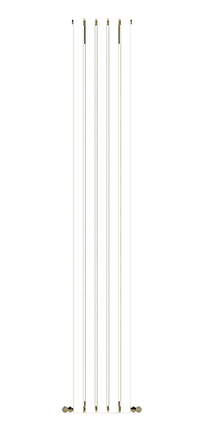 Diseño baño Radiador LINEAR blanco 1200 x 252 mm.calentador toallas