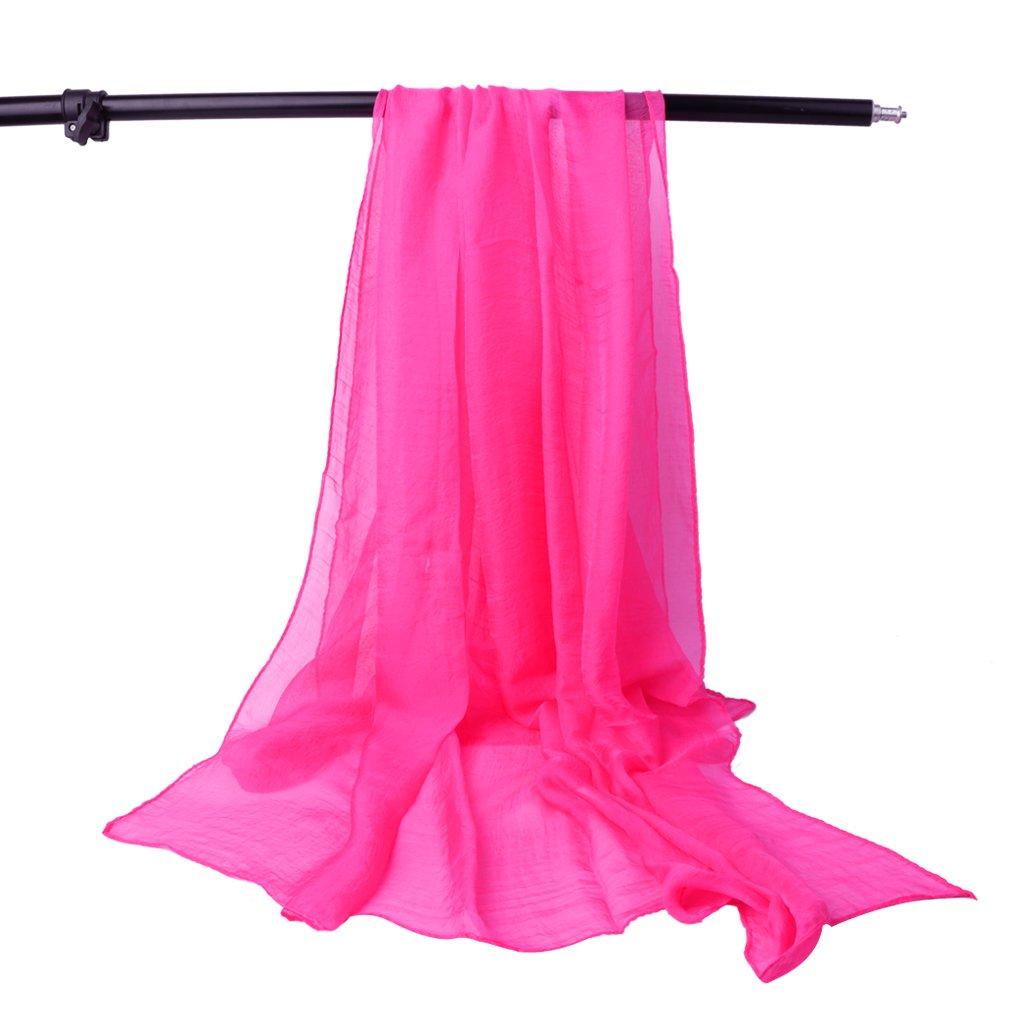 ヴァージニアウルフの家ファッションレディースソフトシフォンスカーフOversizeソリッドカラー夏ビーチラップショール、長方形形状 B074P5GC5B ホットピンク ホットピンク