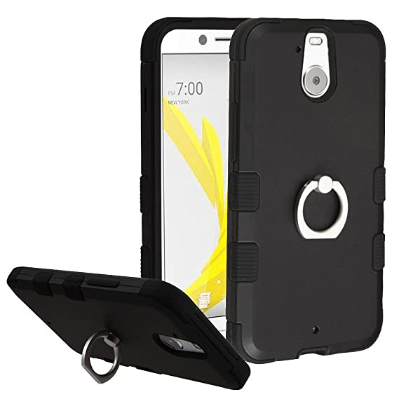 wholesale dealer 06db3 2db06 Amazon.com: Asmyna Phone Case for HTC Bolt - Black/Black: Cell ...