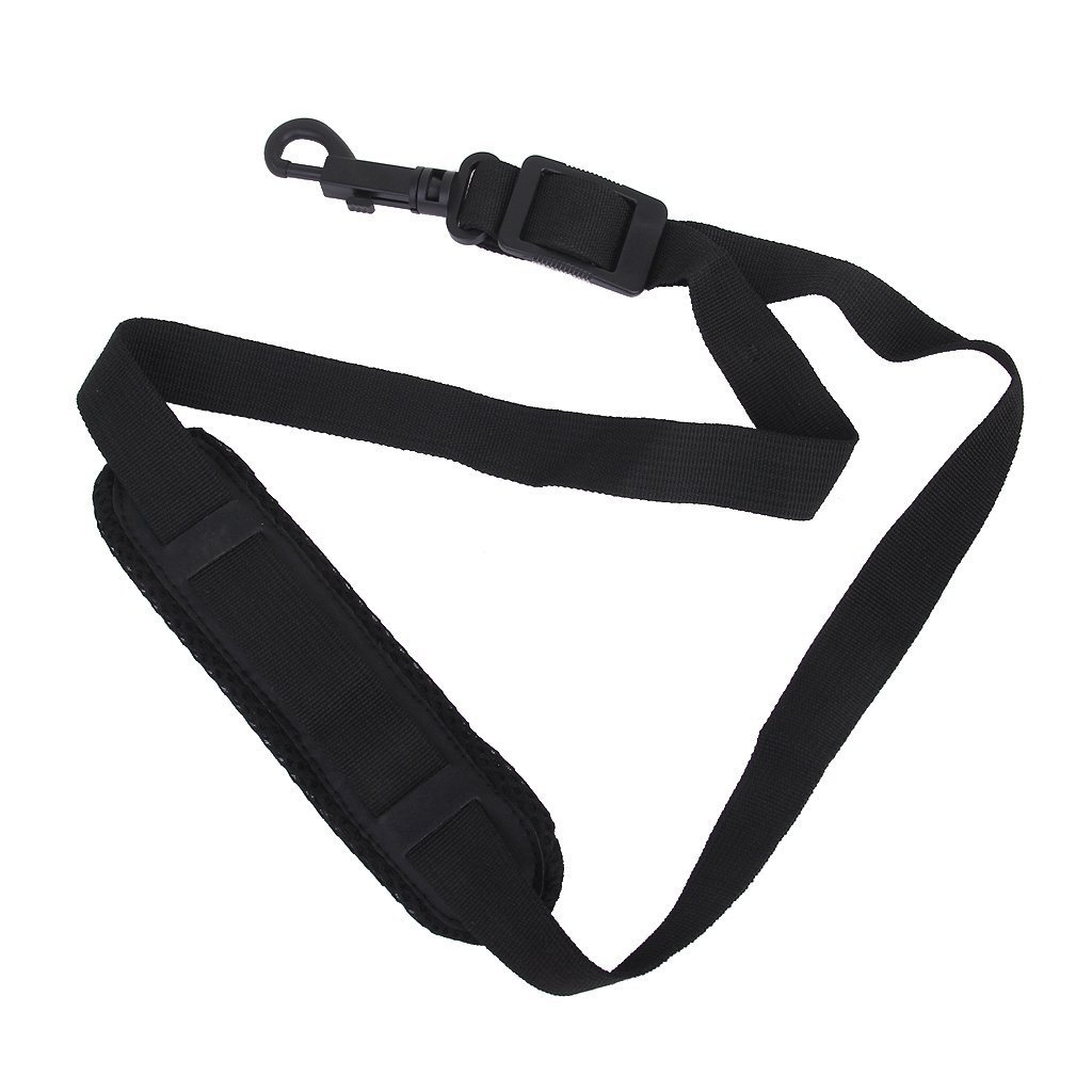 Saxophone Neck Strap - SODIAL(R)Saxophone Neck Strap with Snap Hook, Padded, Adjustable, Black 032813
