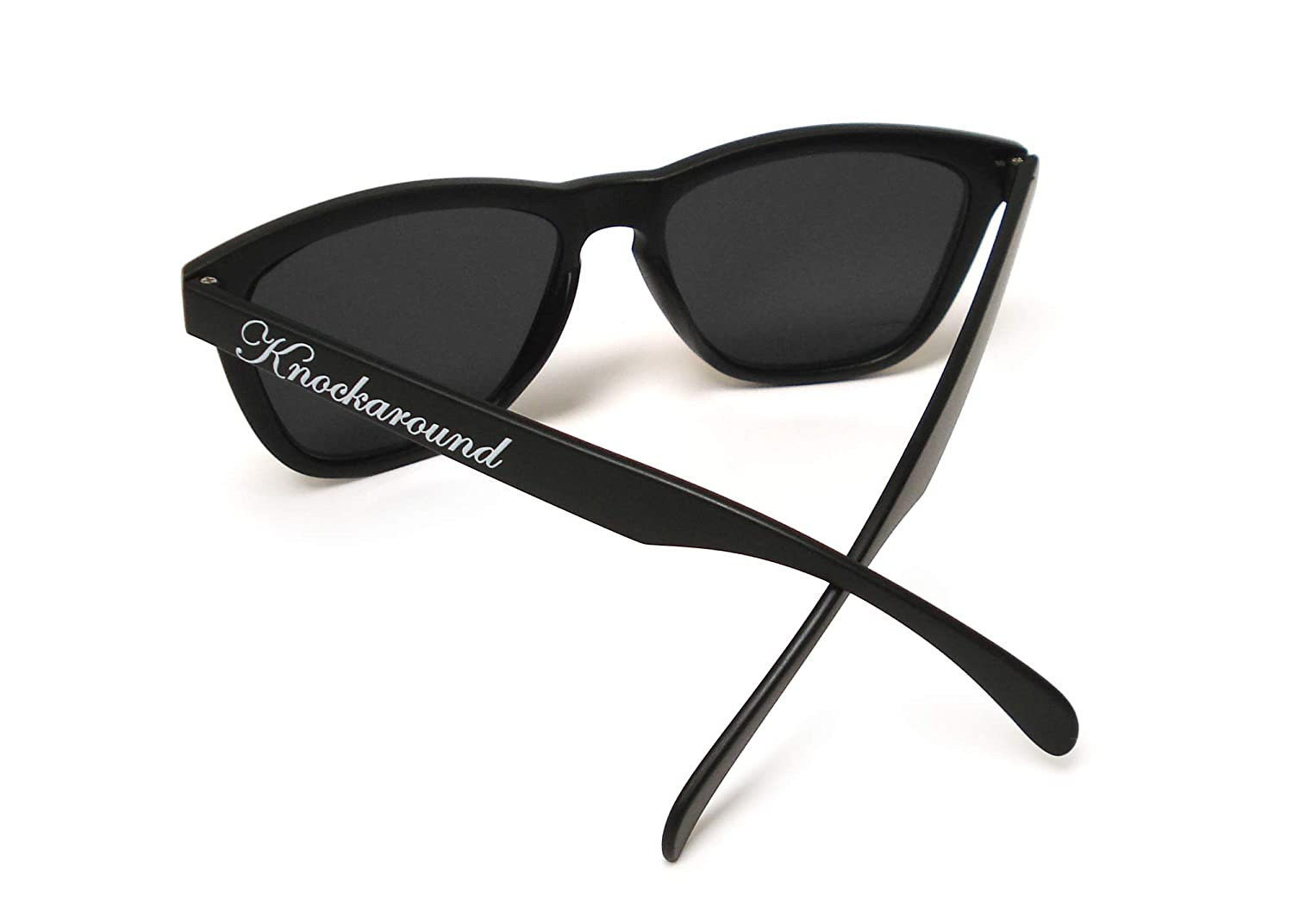a9e9878dd73 Amazon.com  Knockaround Classics Polarized Sunglasses With Matte Black  Frames Blue Reflective Lenses  Clothing