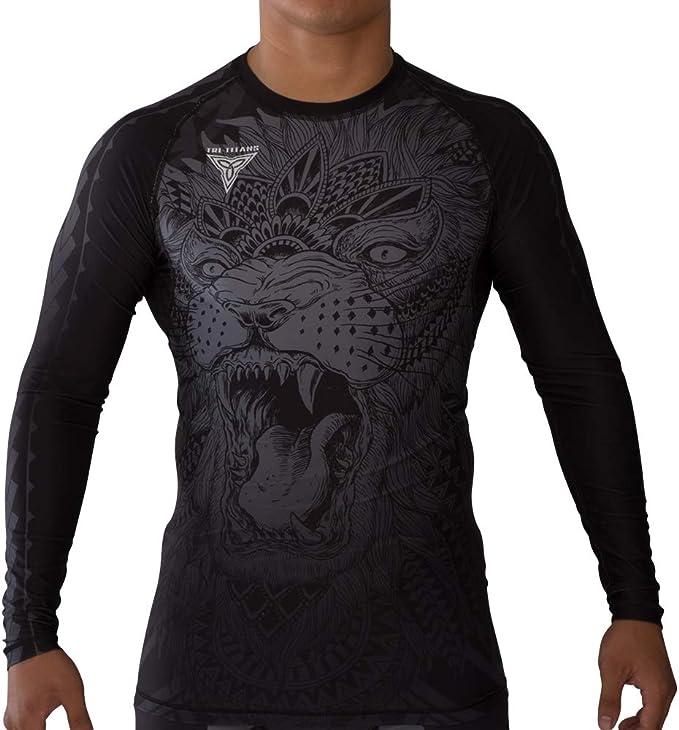 TRI-TITANS Cali Bear Funk Fighter Rashguard//Compression Long Sleeves Jiu Jitsu Wrestling MMA
