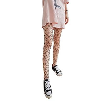 5c4a0f4199b1b SODIAL Chic Women's Fashion Tights Imitation Pearls Fishnet Stockings  Ladies Hollow out Mesh Fishnet Pantyhose Female