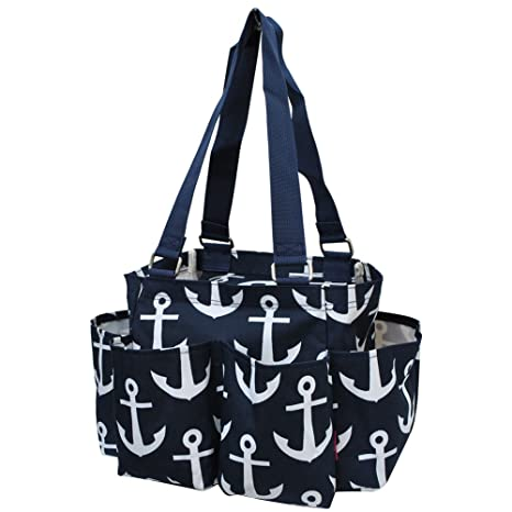 e09945e278ff Anchor Print NGIL Small Zippered Caddy Organizer Tote Bag
