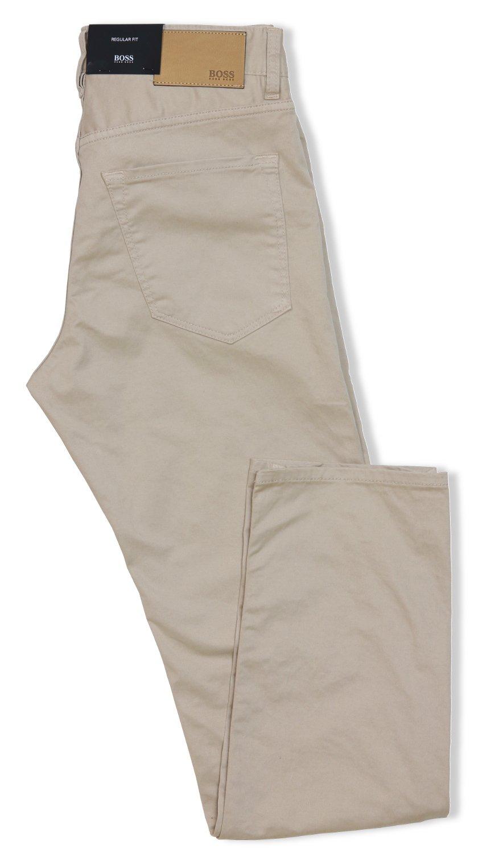 Hugo Boss Men's Regular-fit Maine3-20 Pant ( Khaki, 36 X 30)