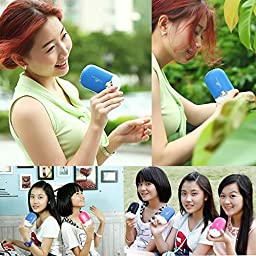 ESUMIC Portable Mini Air Conditioner Travel Handheld USB Rechargeable Cooling Fan for Summer Blue